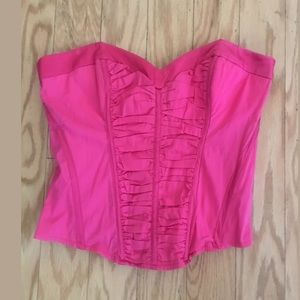 BEBE Z27 Solid Pink Strapless Corset Size Small